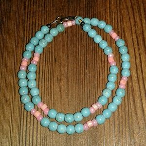 💖2 FOR $20💖Ladies TURQUOISE and Pink NECKLACE